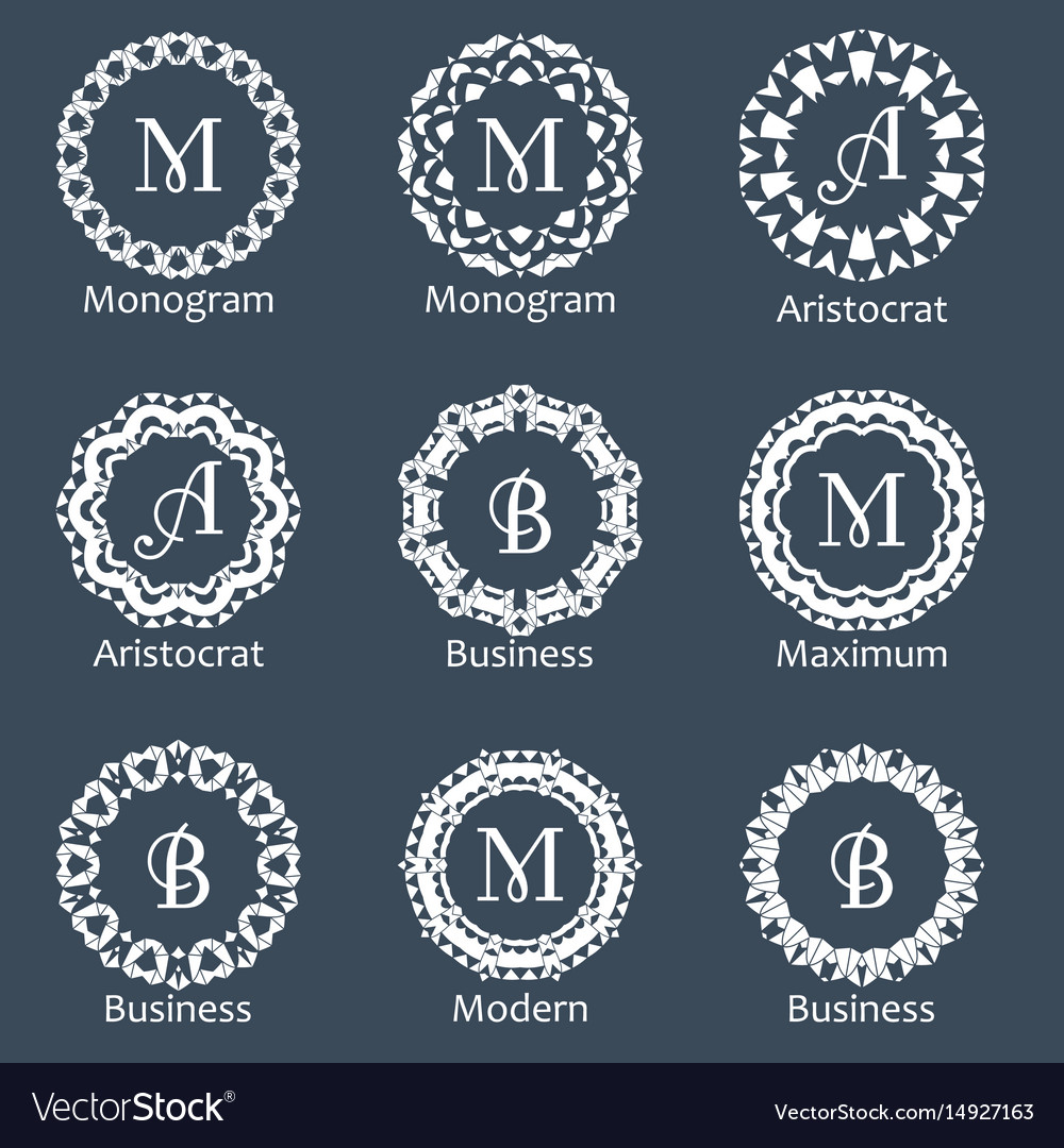 Monogram template elegant design for identity