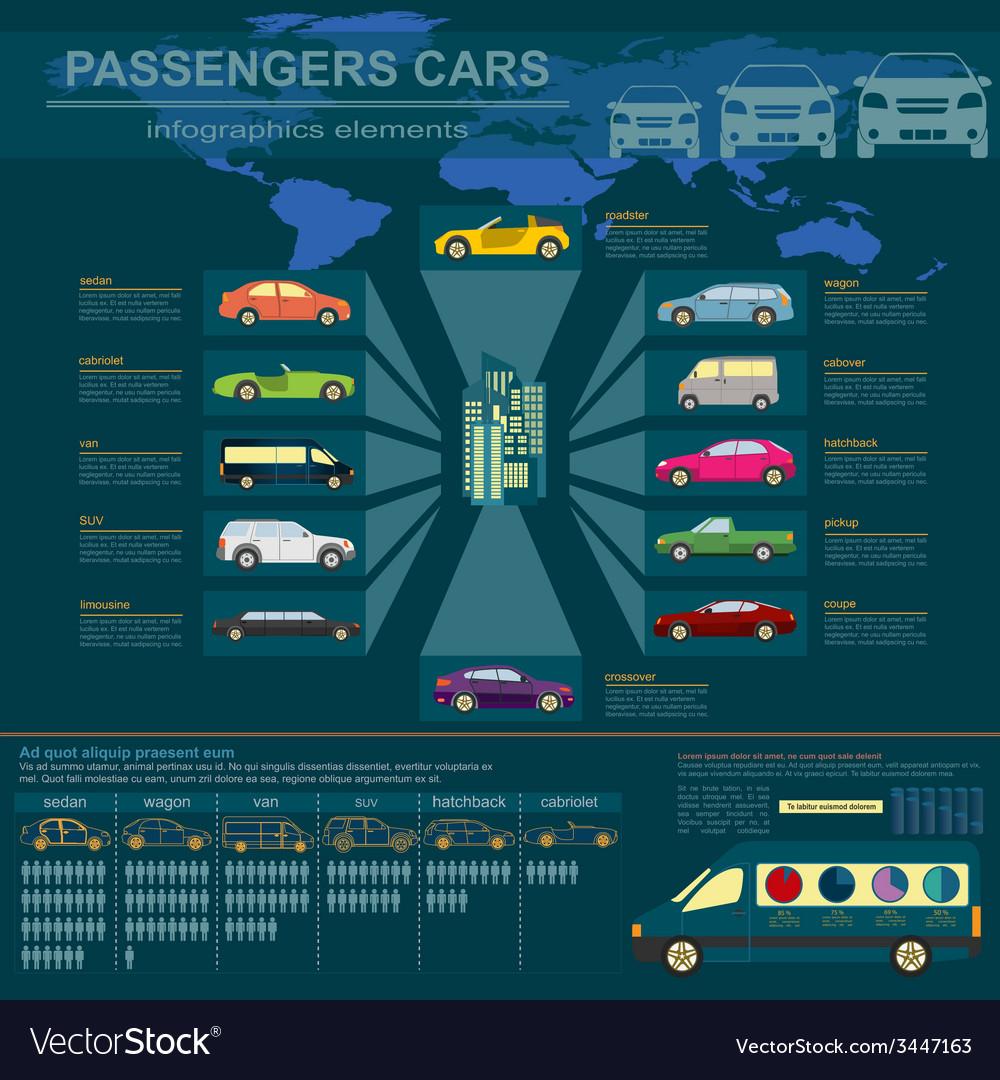 Passenger car transportation infographics