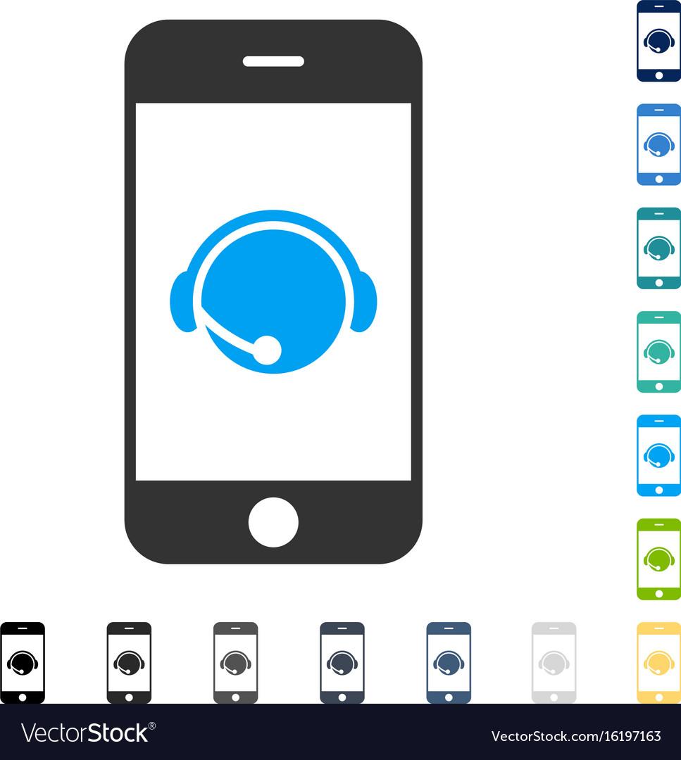 Smartphone operator contact head icon