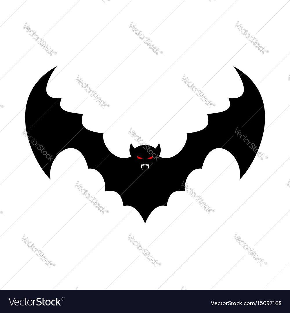 Bat isolated leech with wings flying vampire