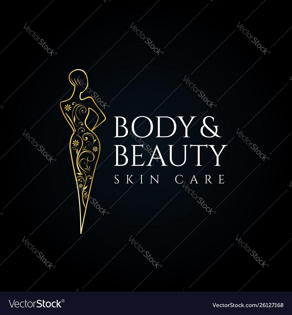 Beauty Salon Skin Care Logo Set Template Vector Image