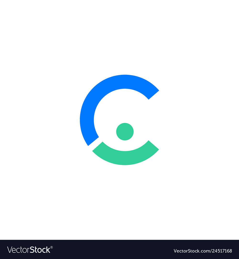C letter people person logo icon