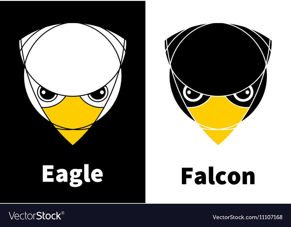 Eagle and Falcon Head Icons