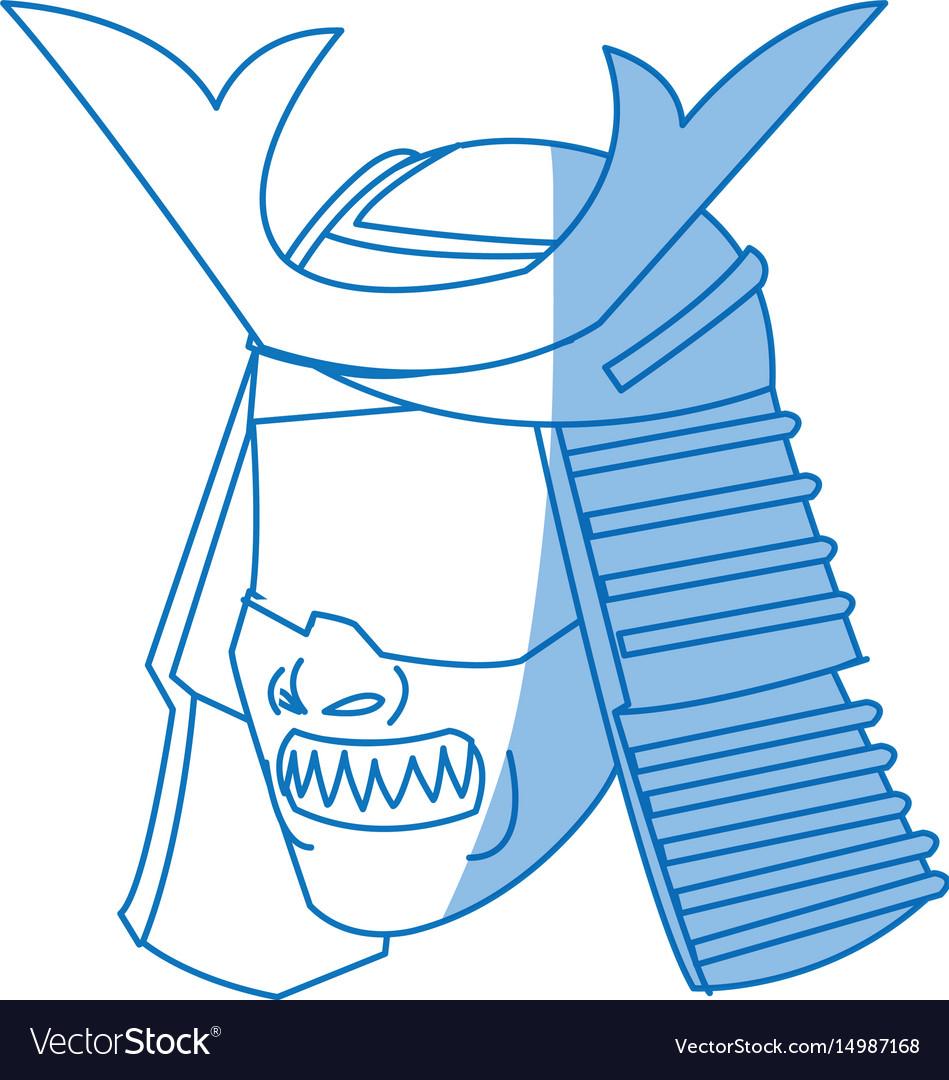 Fearsome samurai mask culture japanese