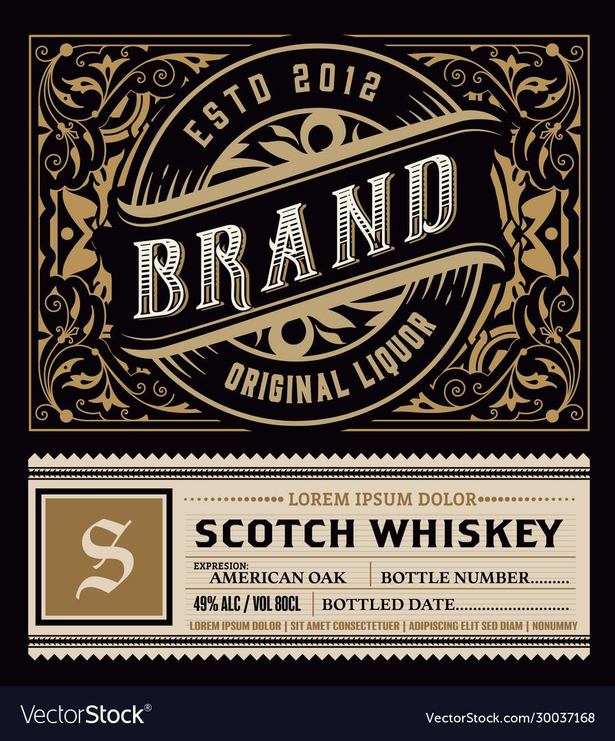 Label design ornate logo template