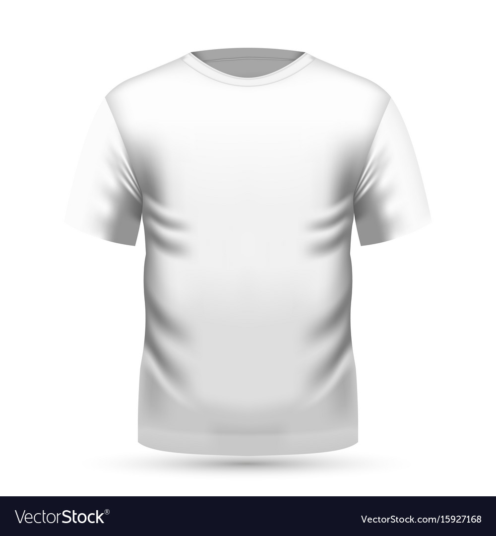 Mens white t-shirt in front view