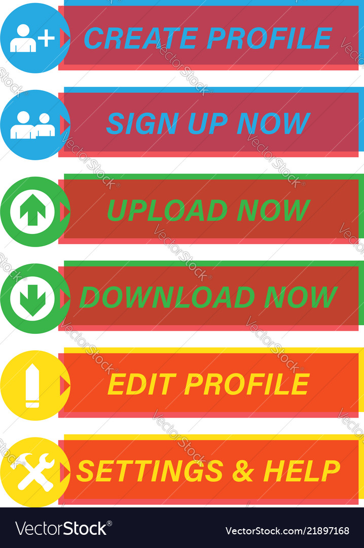 Navigation web buttons
