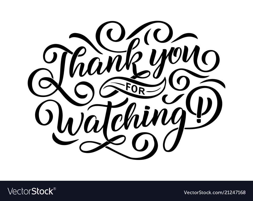 thank you for watching cover banner template for vector image