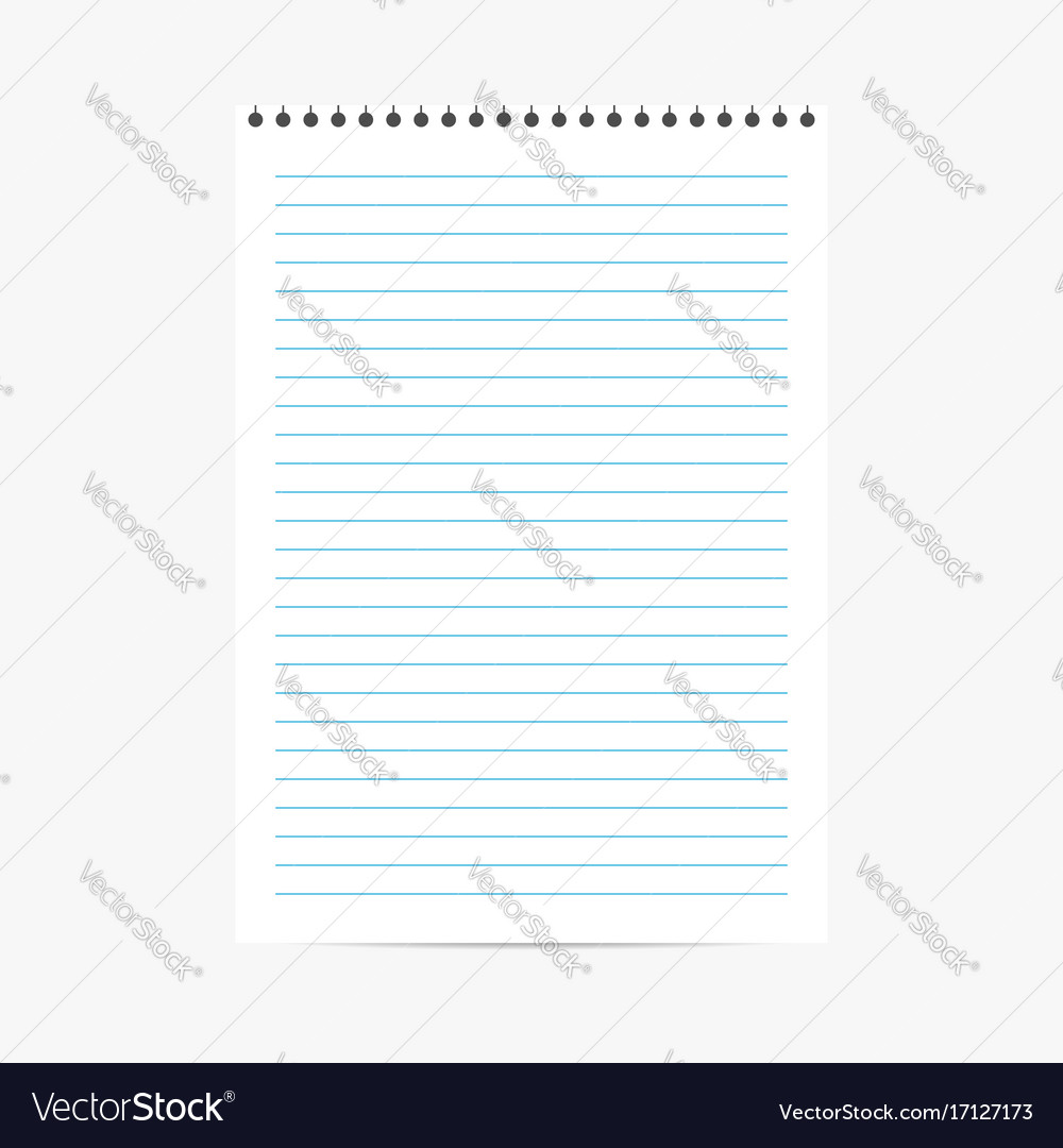 Blank lined paper texture