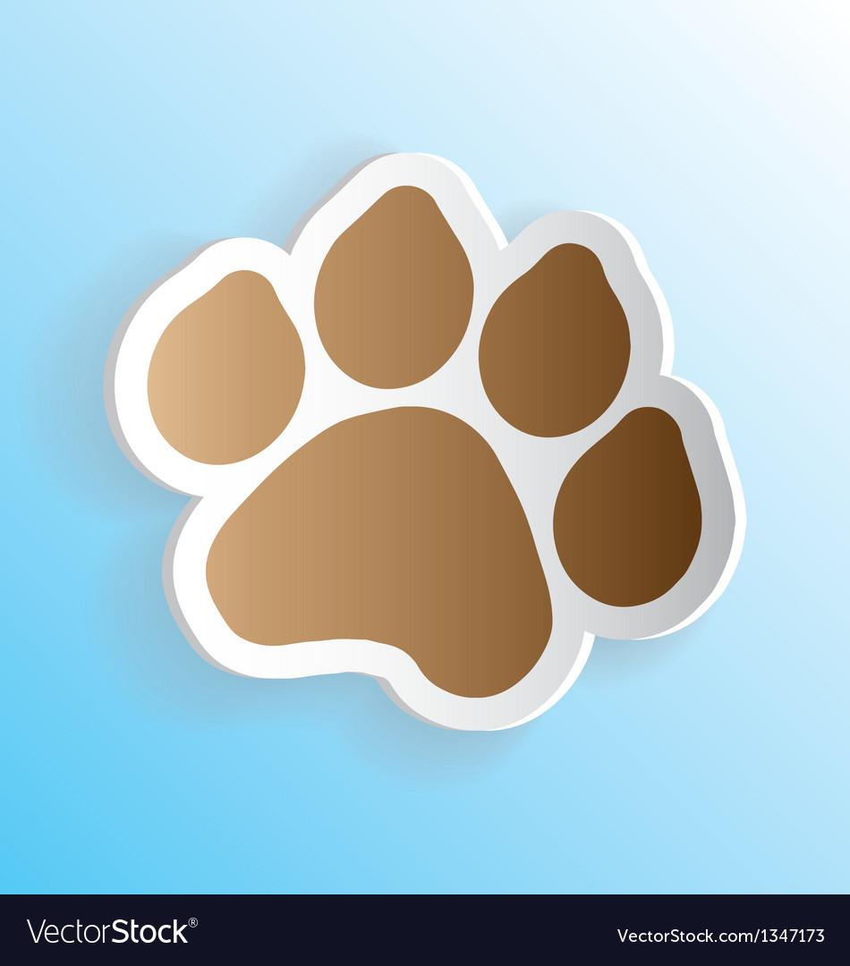 Dog Paw Print Sticker Peeling vector image