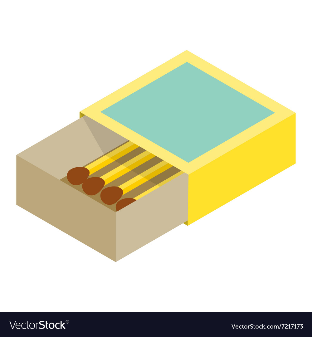 Matchbox isometric 3d icon