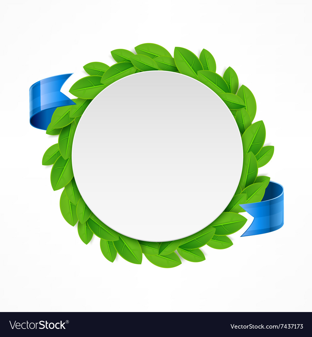 Round leaves icon vector image