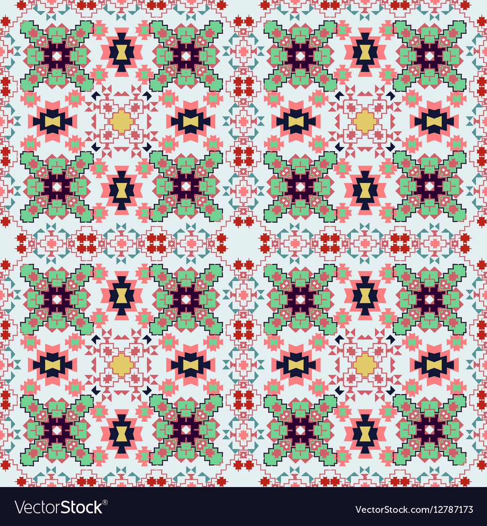 Seamless colorful ethnic pattern