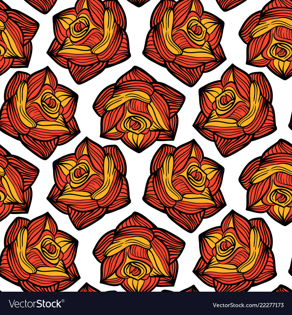 Seamless tracery with roses