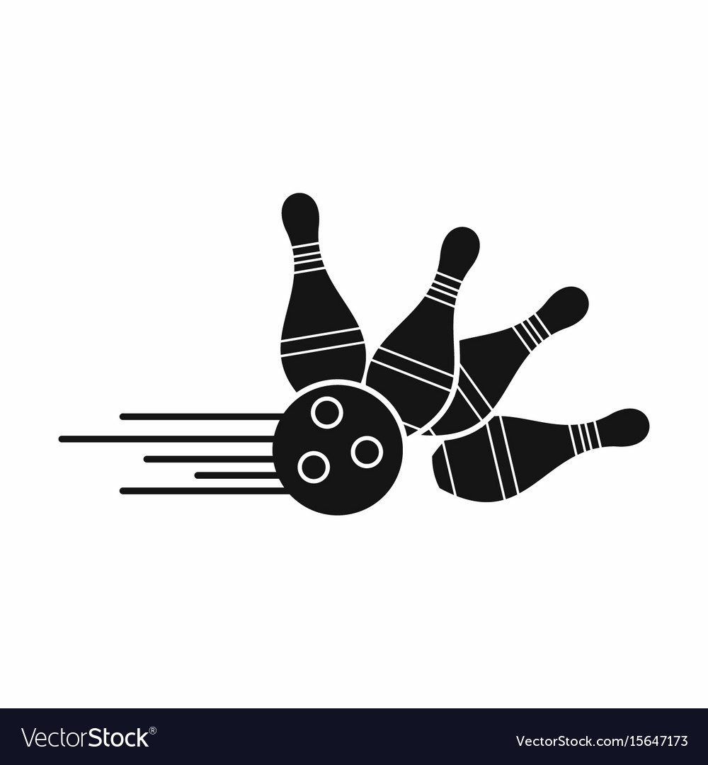skittle for bowling in silhouette style royalty free vector