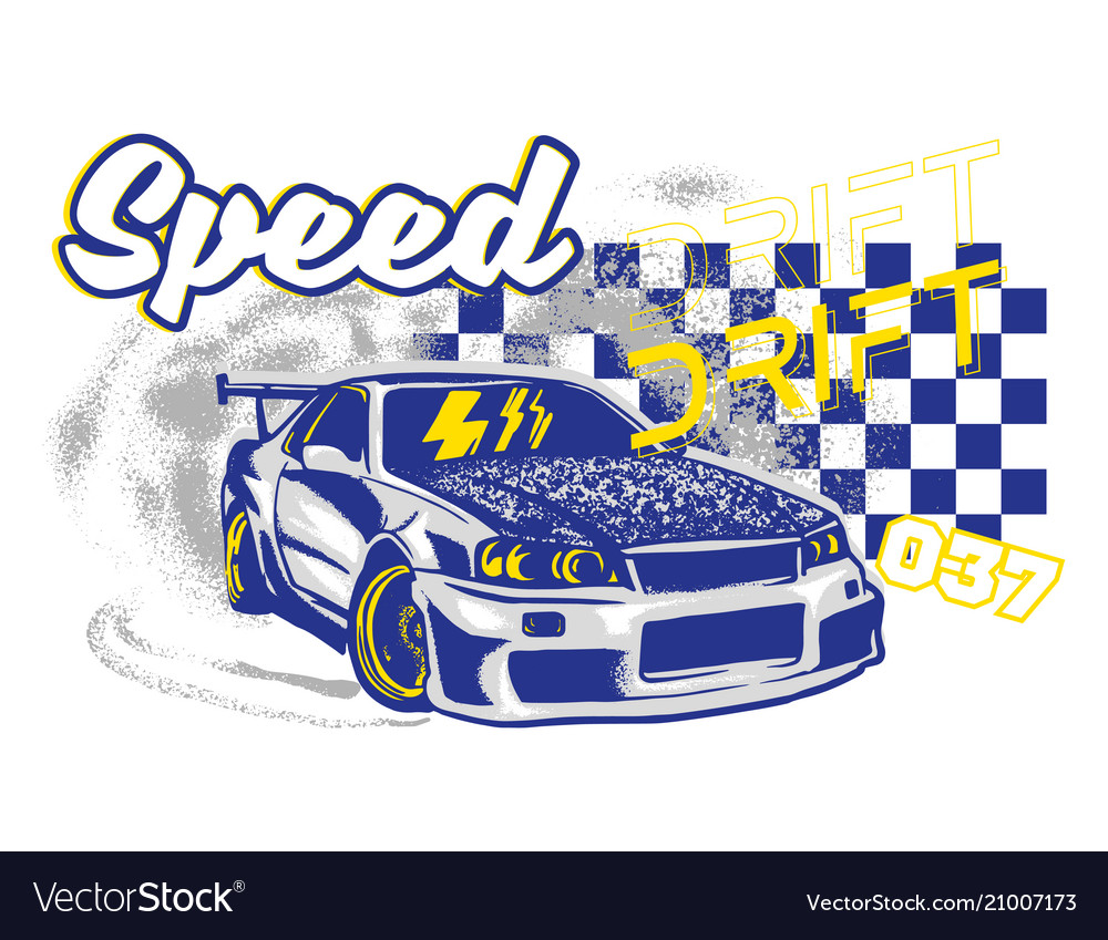 Sport car print
