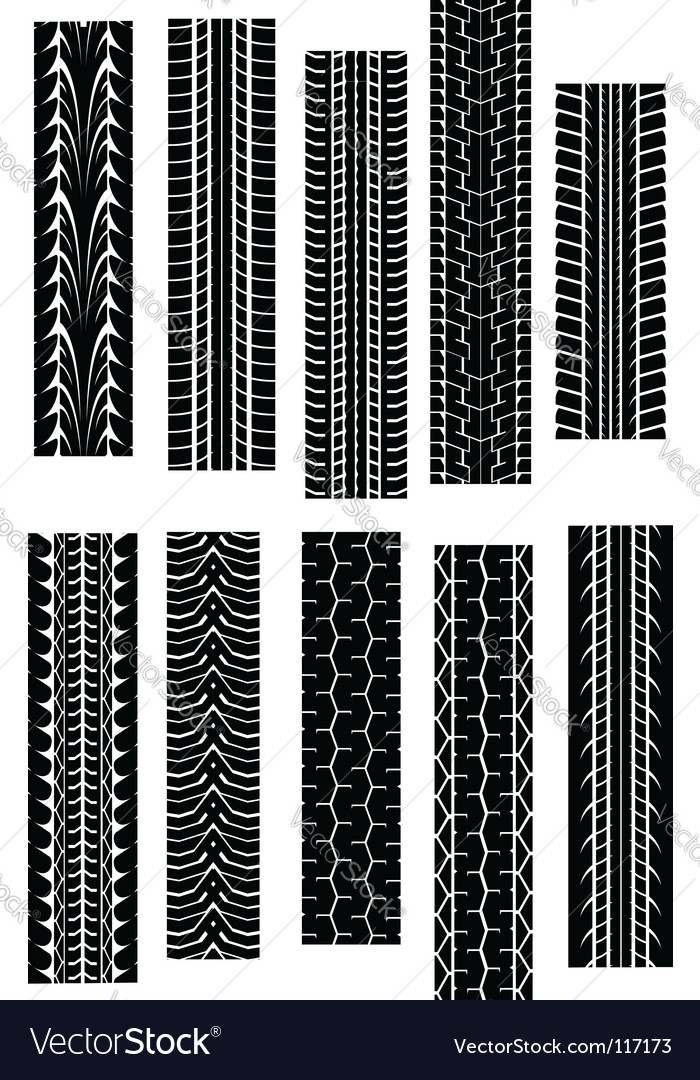 Tire Tread Patterns Royalty Free Vector Image VectorStock Enchanting Tire Tread Patterns
