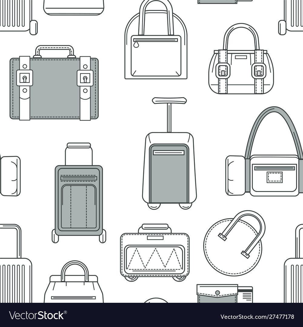 Baggage and bags handbags and luggage seamless