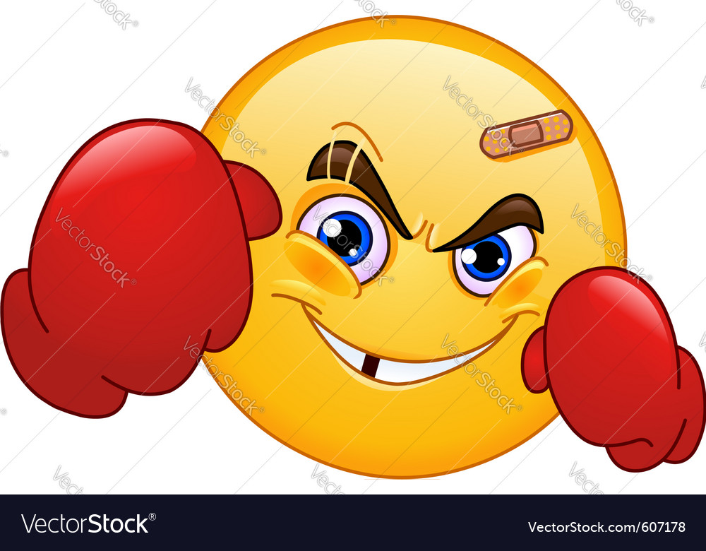Boxer emoticon vector image