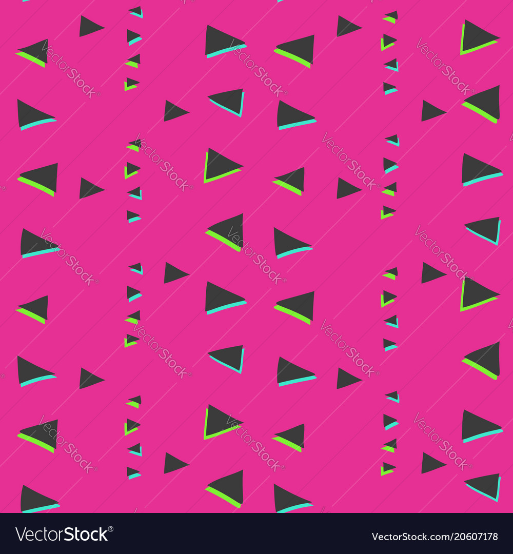 Bright pink pattern with glitch triangles