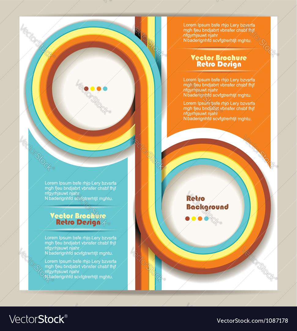 Brochure design retro background