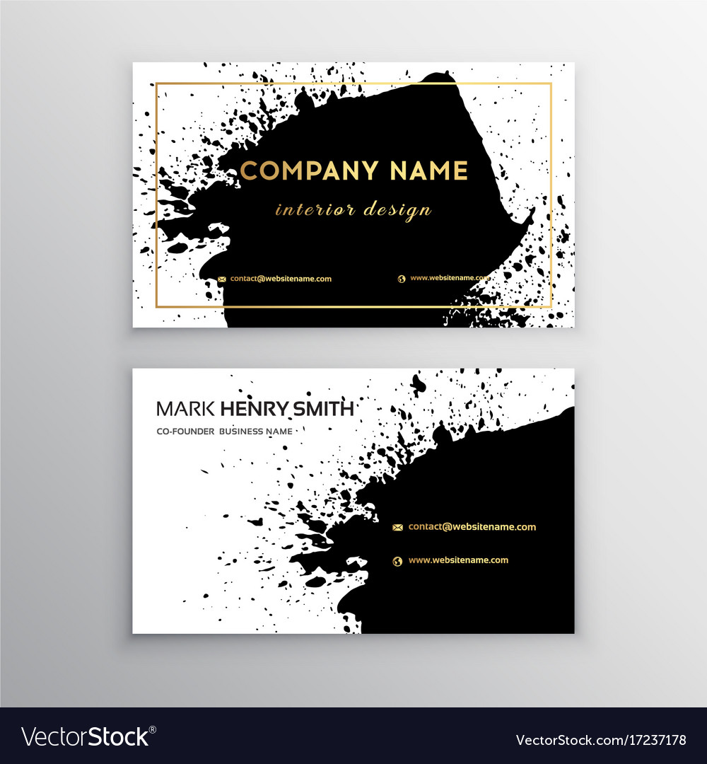 Business card luxury business card design vector image colourmoves