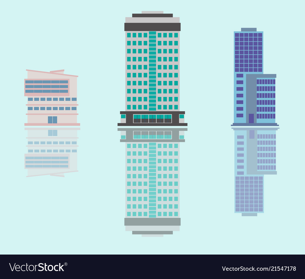 City of skyscrapers building an