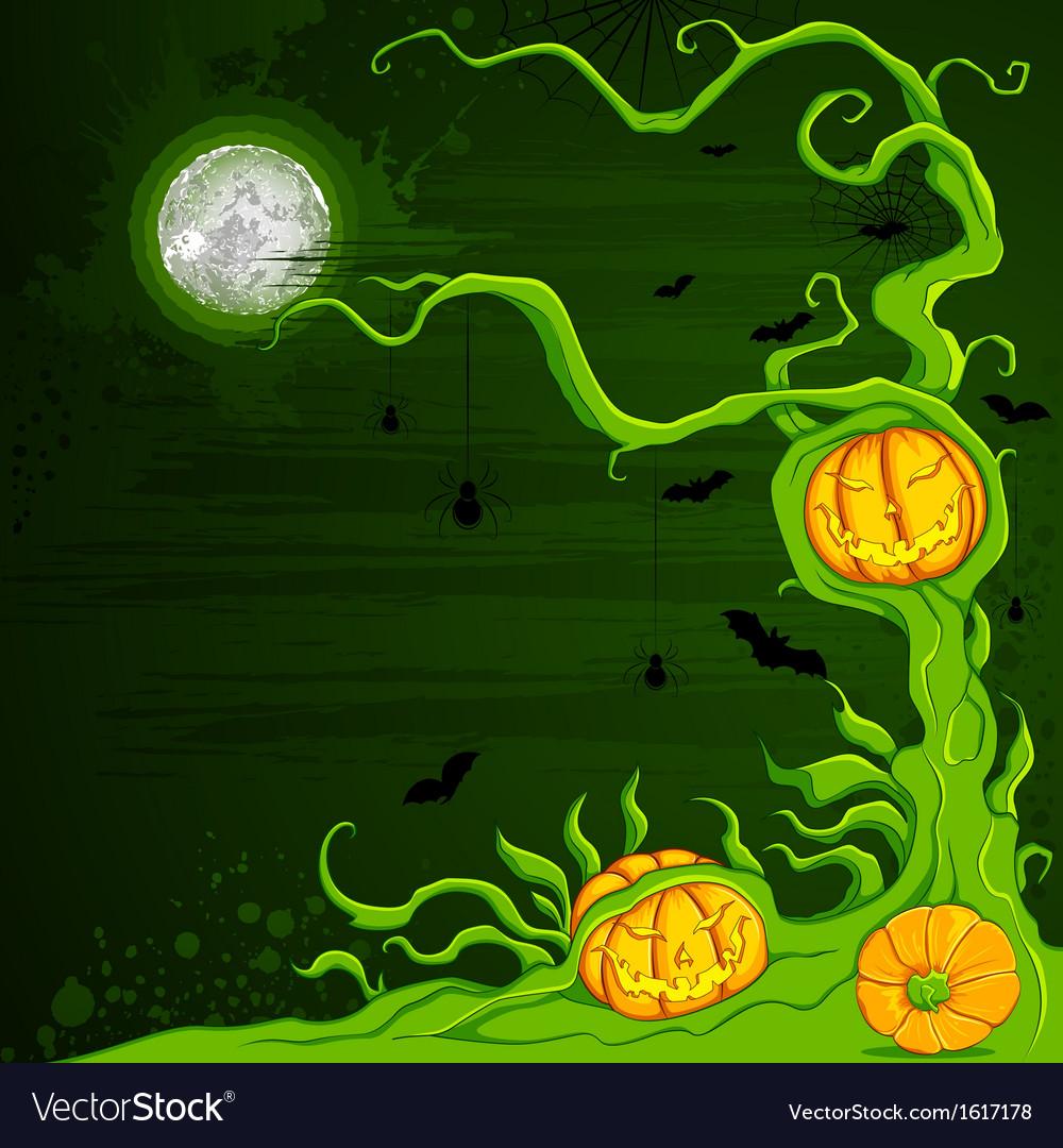Halloween Pumpkin Tree vector image