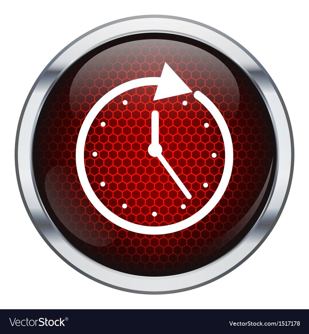 Red honeycomb clock icon