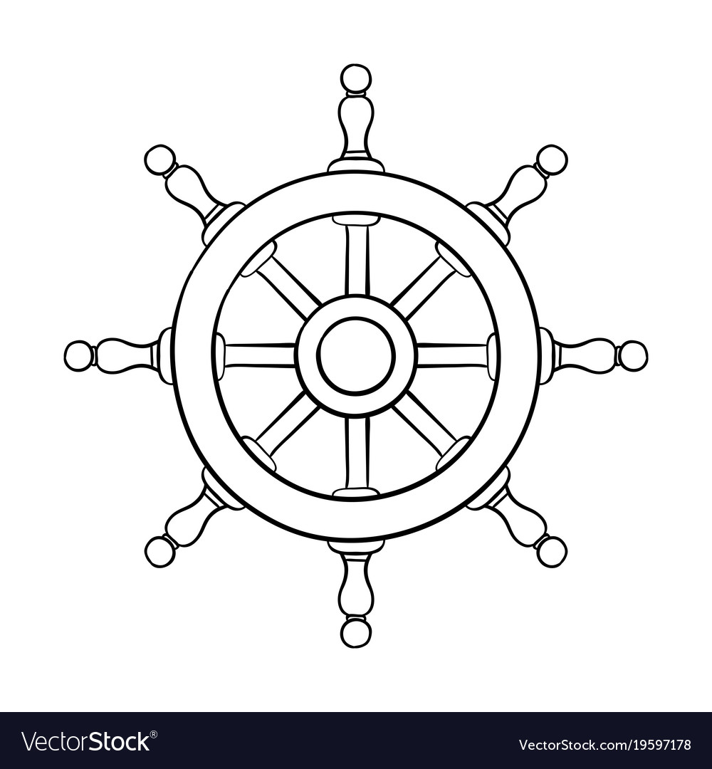steering wheel outline drawing royalty free vector image