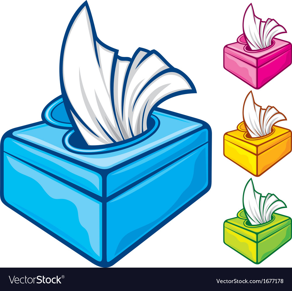 Tissue Boxes Royalty Free Vector Image Vectorstock