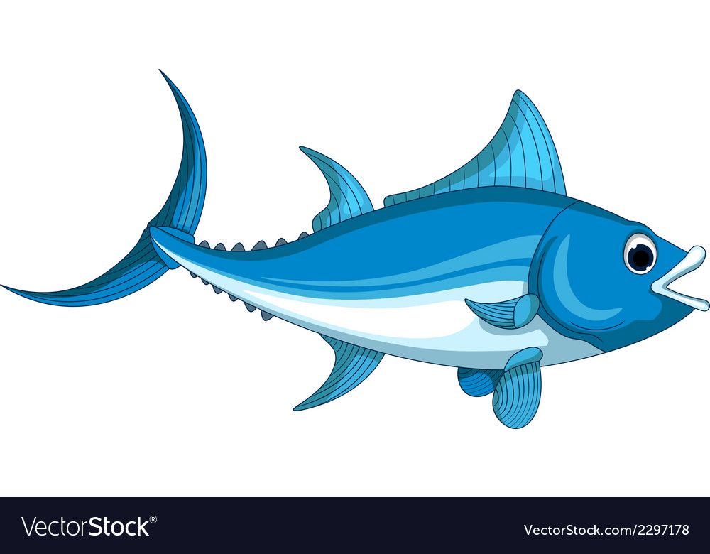 tuna fish cartoon royalty free vector image vectorstock vectorstock