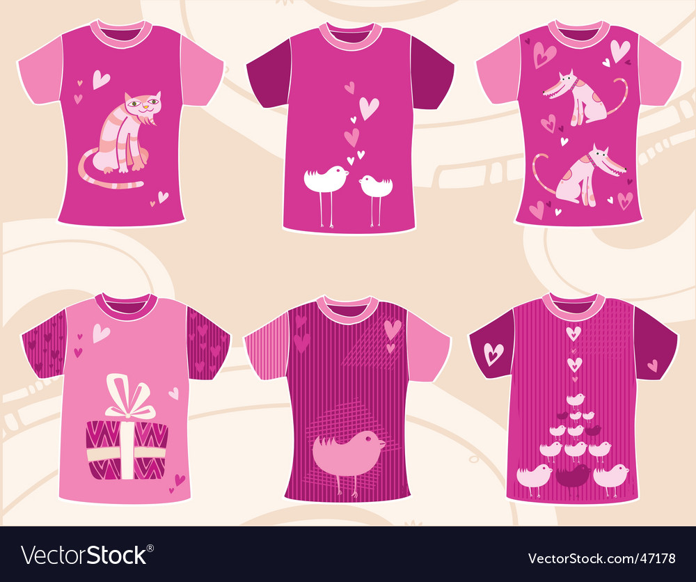Valentines Day T Shirts Design Royalty Free Vector Image