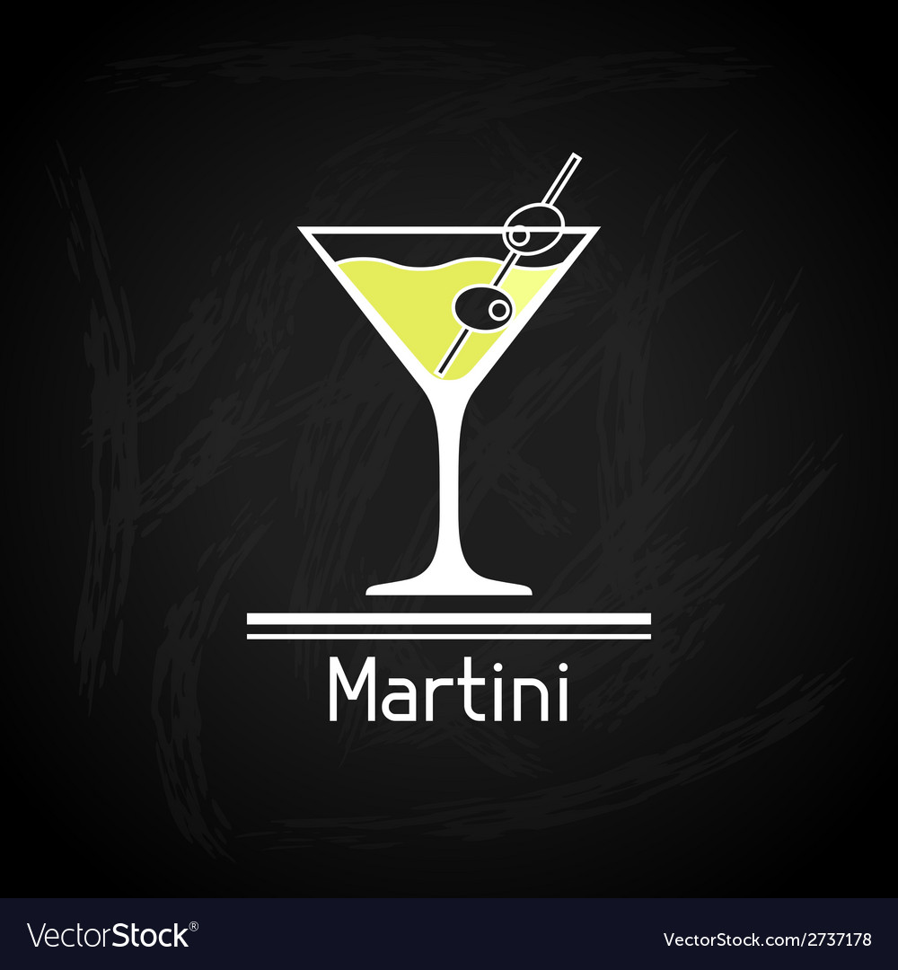 With glass of martini for menu cover