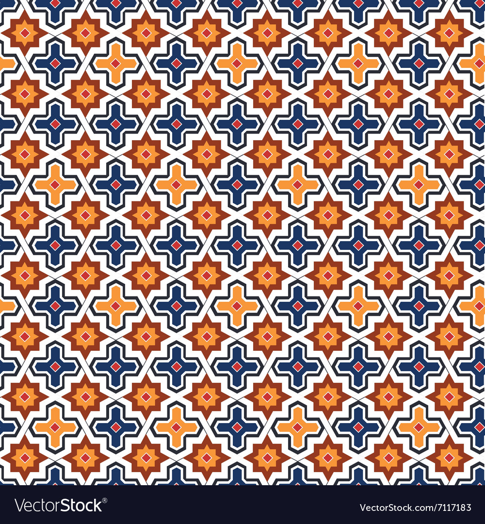 Abstract arabic islamic seamless geometric pattern vector image