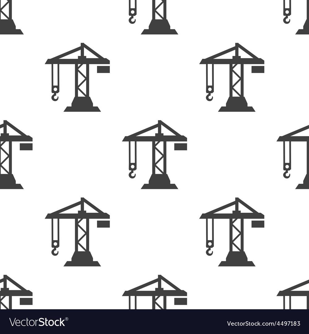 Building crane seamless pattern