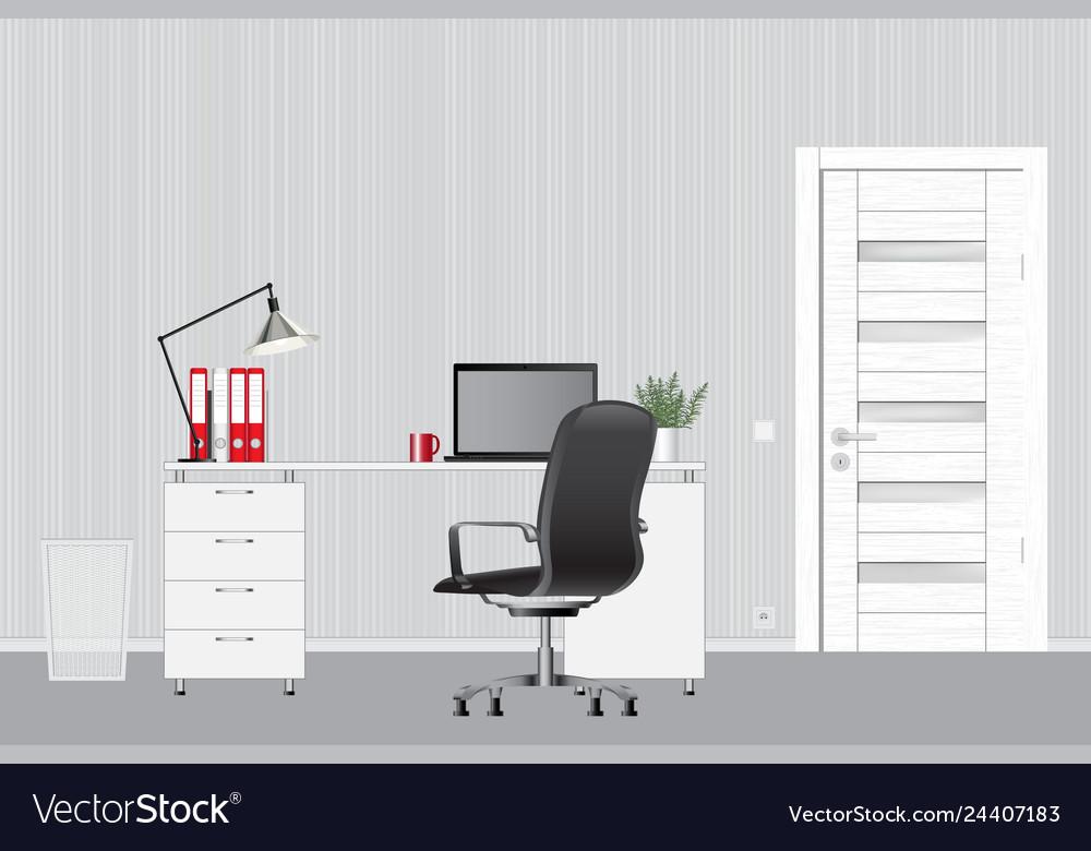 Empty modern office interior image office