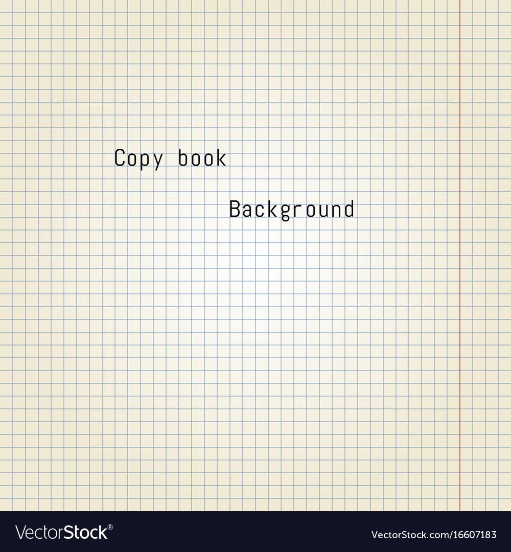 Old copy book paper