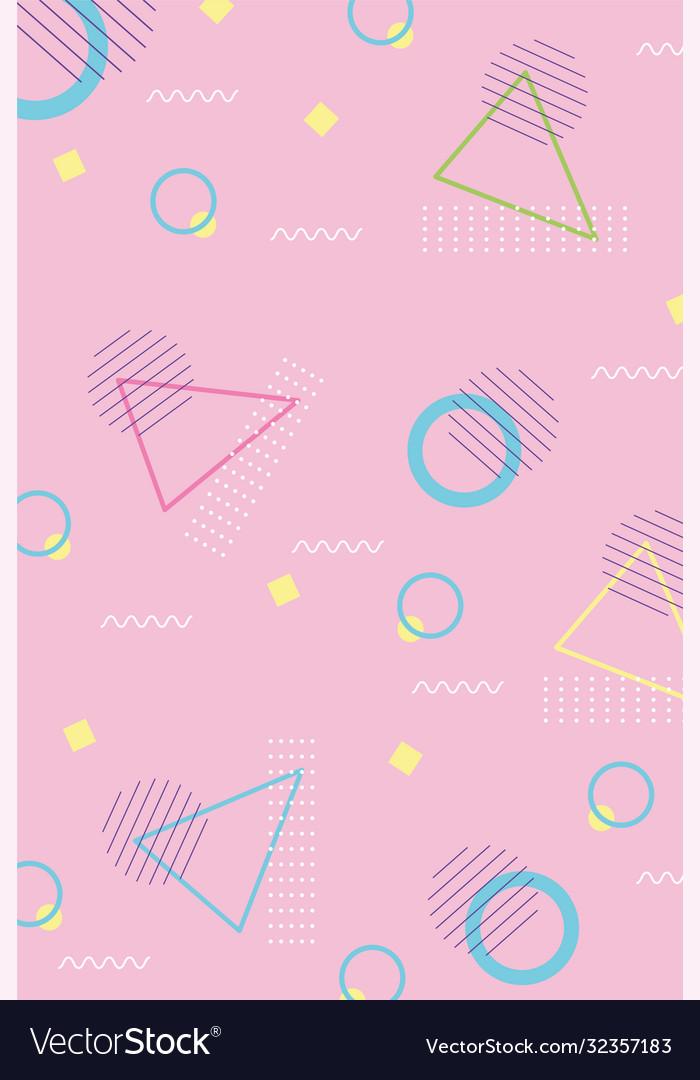 Vintage memphis seamless pattern circles spot