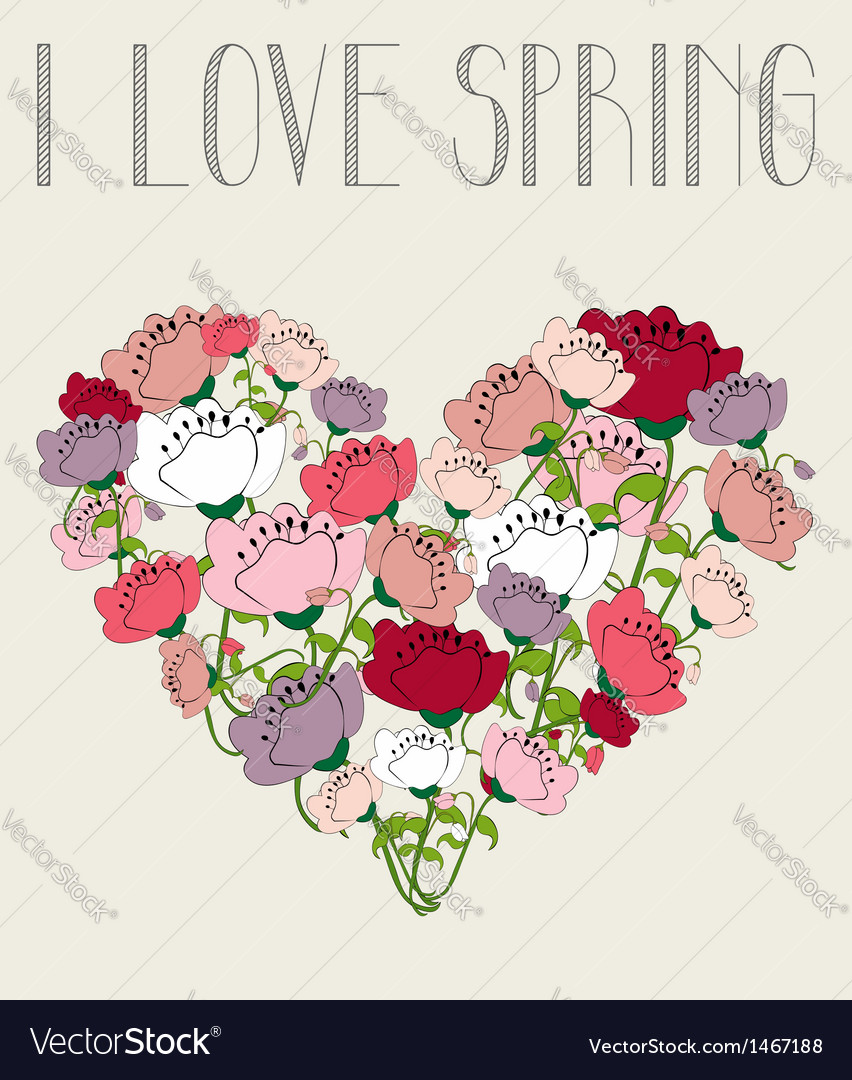 I love spring heart background