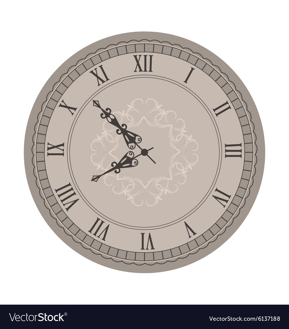 Old Clock with Vignette Arrows