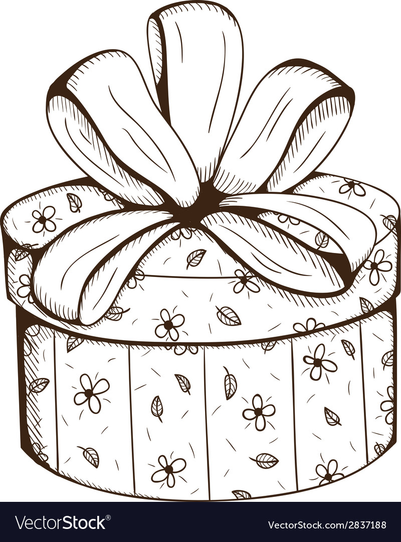 Present box with decorative bow