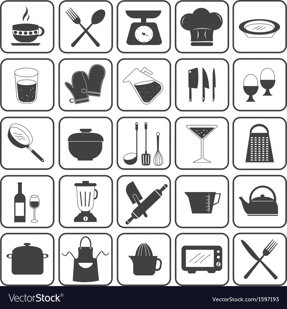 Basic Cooking Icons Set