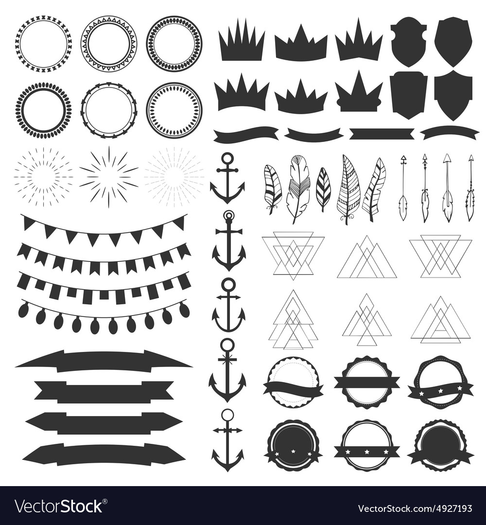 Collection of shields badges and labels design