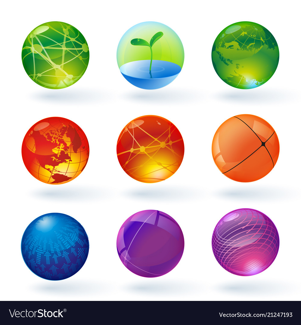 Color transparent spheres and globes