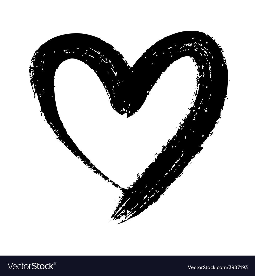 Doodle heart Royalty Free Vector Image - VectorStock