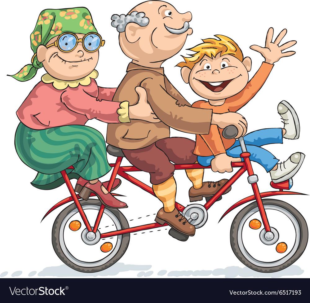 Fun Bike Ride vector image