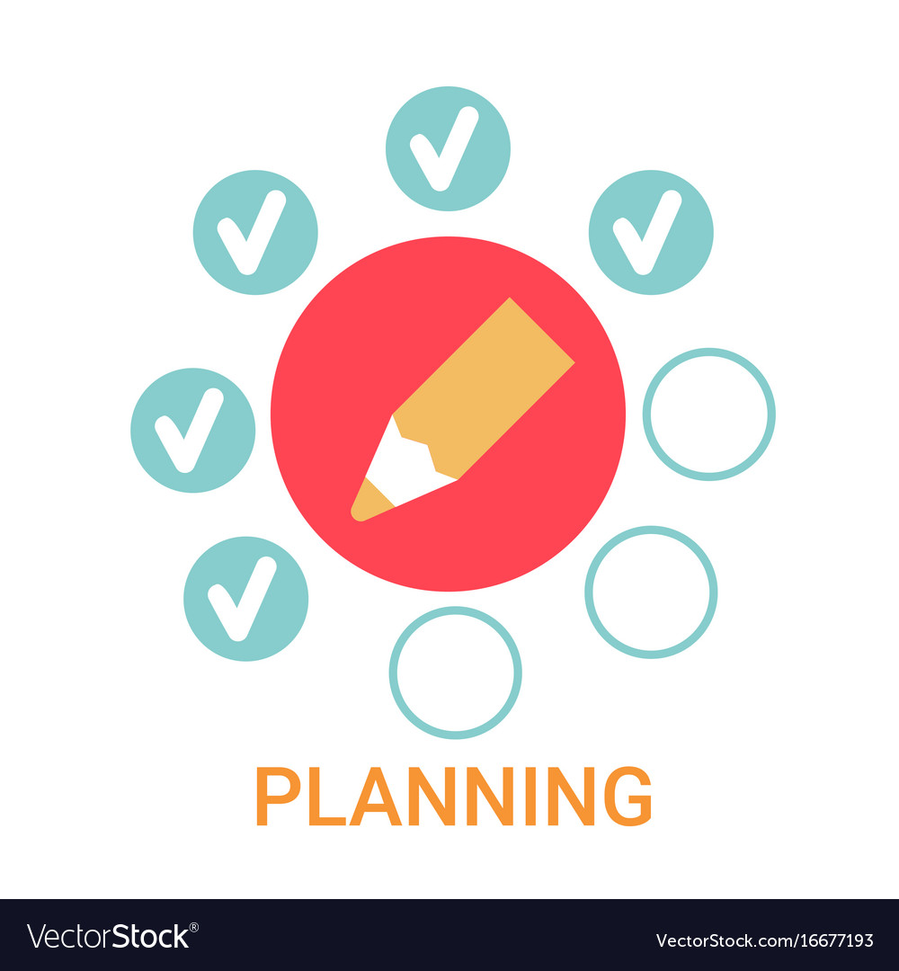 Planning icon business strategy development banner  Planning icon b...
