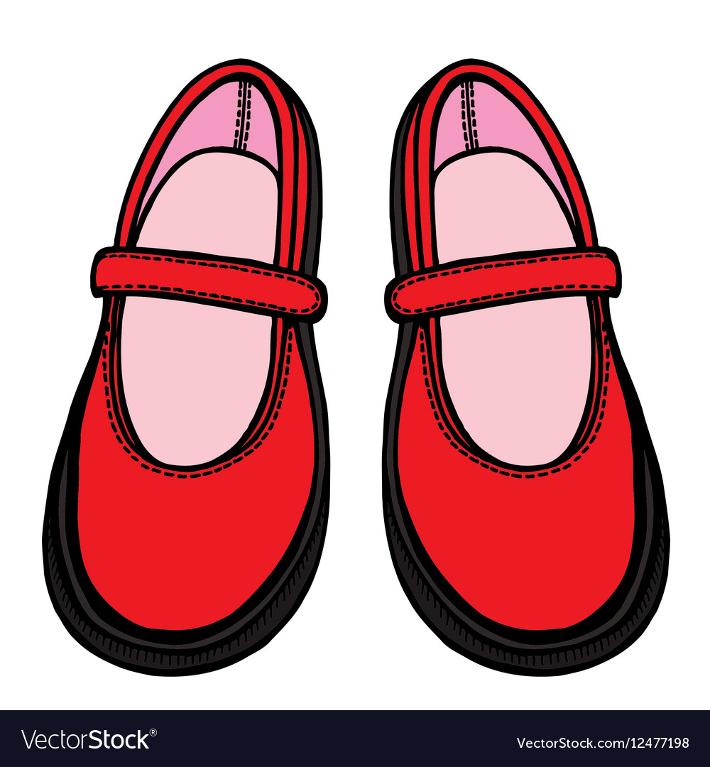 Ballet shoes sketch vector image