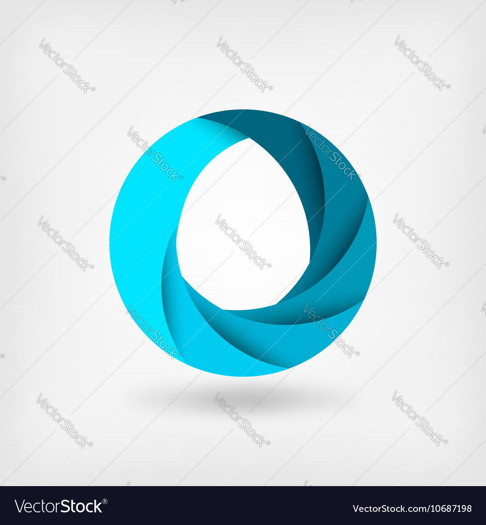 Blue abstract symbol of water logo template